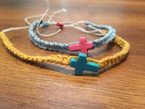 Friendship bracelets used during outreach to the sex industry in Bangkok.