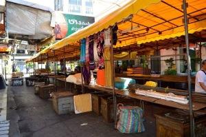A market being set up in Thailand.
